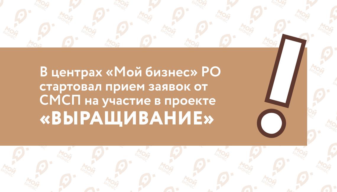В центрах «Мой бизнес» Ростовской области стартовал прием заявок от субъектов МСП на участие в проекте «выращивание»